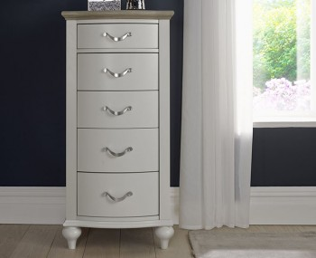 Montreux Grey Two-Tone 5 Drawer Tall Chest