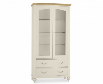 Montreux Antique White & Oak Display Unit