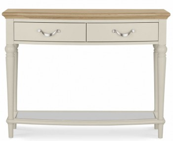 Montreux Antique White & Oak Console Table
