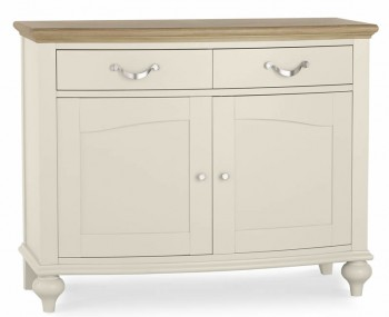 Montreux Antique White & Oak Narrow Sideboard