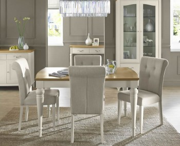 Montreux Antique White 140cm Extending Dining Set