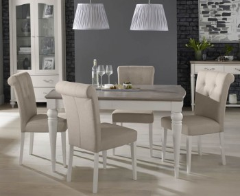 Montreux Grey Two-Tone 140 cm Extending Dining Set
