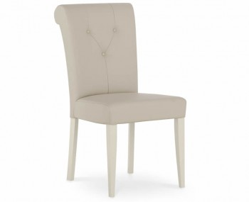 Montreux Antique White Ivory Leather Dining Chair