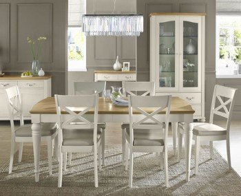 Montreux Antique White 180 cm Extending Dining Set