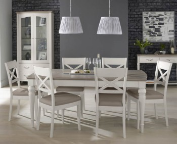 Montreux Grey Two-Tone 180 cm Extending Dining Set