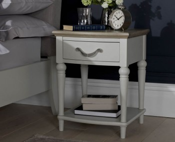 Montreux Grey Two-Tone 1 Drawer Nightstand