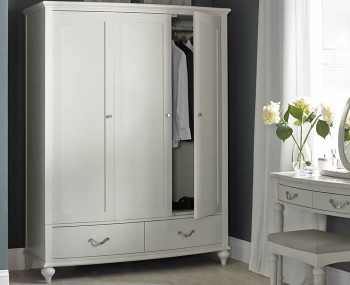Montreux Soft Grey 3 Door Wardrobe