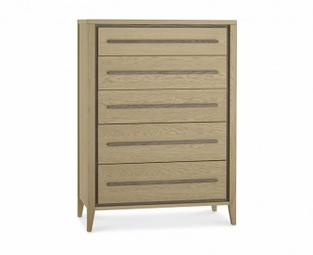 Rimini Weathered Oak 5 Drawer Chest