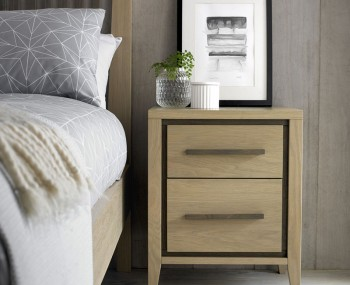Rimini Weathered Oak 2 Drawer Bedside Chest