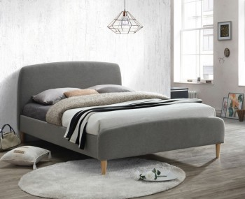 Montcalm Grey Upholstered Bed Frame