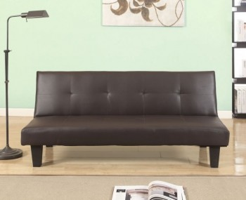 Yorktown 96cm Brown Faux Leather Sofa Bed