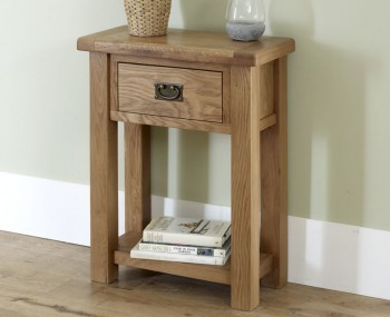 Priory Oak Small Console Table