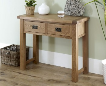 Priory Oak Large Console Table