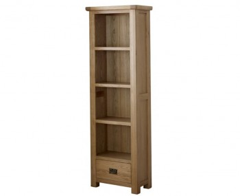 Priory Oak 1 Drawer Bookcase
