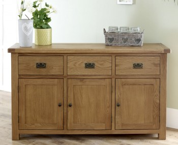 Priory Oak Large Sideboard