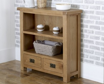 Priory Oak 2 Drawer Small Bookcase