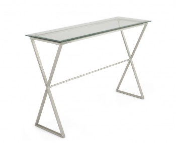 Kiana Clear Glass Console Table