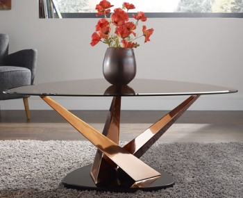 Larissa Smoked Glass Coffee Table