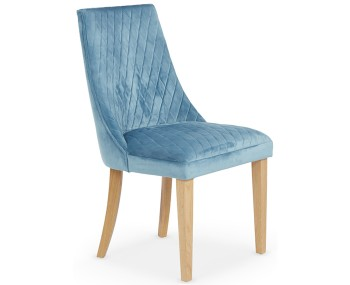 Charlton Cyan Fabric and Oak Dining Chair