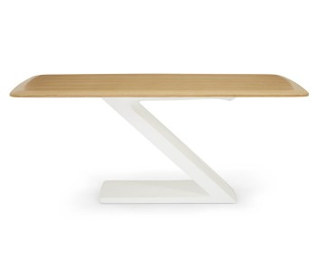 Paterna White High Gloss and Oak Dining Table
