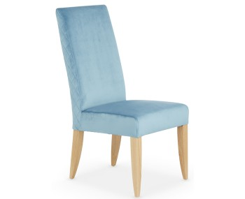 Hendon Cyan Fabric and Oak Dining Chair
