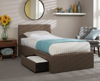 Scarlett Chocolate Upholstered Bed