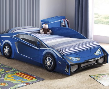 Venom Blue Racer Car Bed
