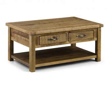 Aspen Solid Pine Coffee Table with Drawers