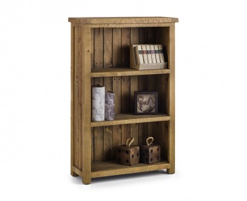 Aspen Solid Pine Low Bookcase