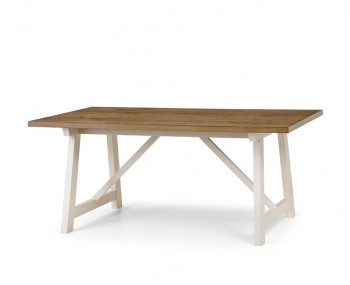 Pembroke Ivory and Welsh Oak Dining Table