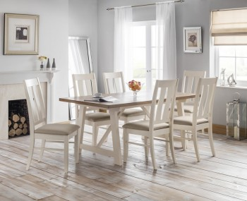 Pembroke Ivory and Welsh Oak Dining Set