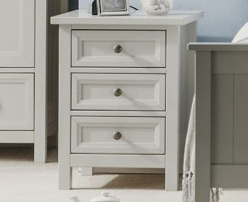 Foxcroft Dove Grey Bedside Chest
