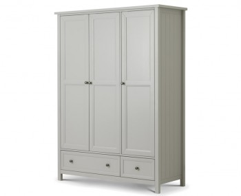Foxcroft Dove Grey 3 Door Combi wardrobe