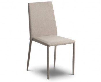 Jazz Sand Linen Stacking Dining Chair