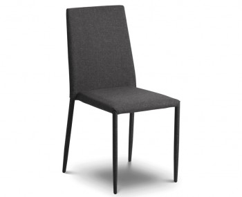 Jazz Grey Linen Stacking Dining Chair