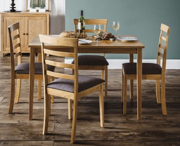 Cleo Natural Oak Dining Table and Chairs