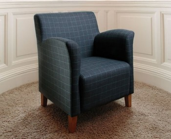 Leven Scottish Plaid Upholstered Armchair