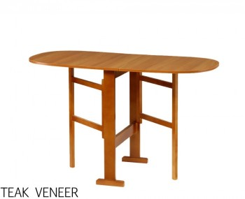 EX - Display Orchid Teak Veneer Gateleg Dining Table Only *Special Offer*