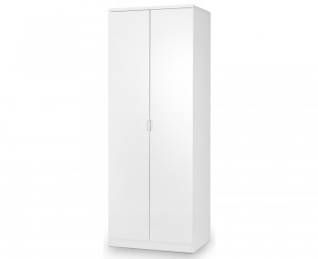 Manhattan White High Gloss 2 Door Wardrobe