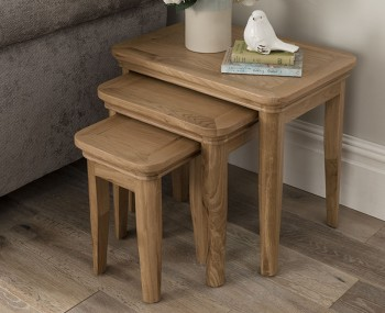 Harmony Premium Oak Nest of Tables