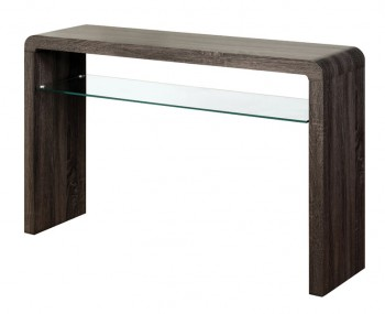 Deloro Charcoal Oak and Glass Large Console Table