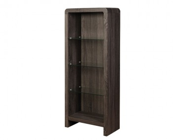 Deloro Charcoal Oak and Glass Bookcase