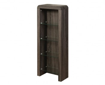 Deloro Charcoal Oak and Glass DVD Storage Unit