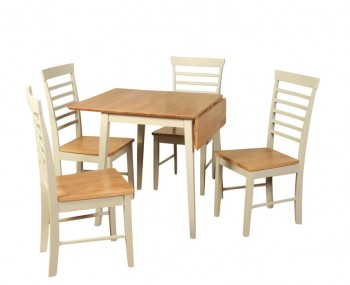 Berlin Two-Tone Square Drop Leaf Table and Chairs