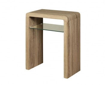 Deloro Dark Oak and Glass Small Console Table