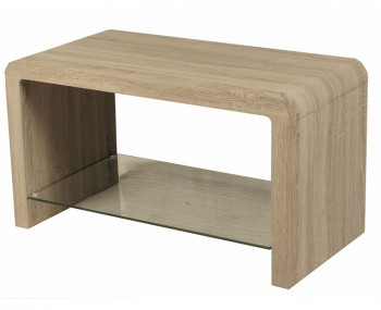 Deloro Dark Oak and Glass Coffee Table