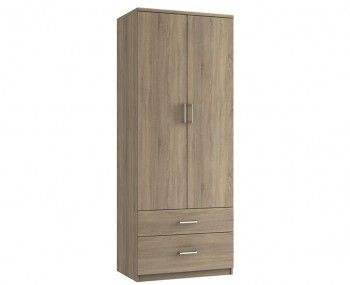 Parco Bardolino Oak 2 Door 2 Drawer Tall Wardrobe