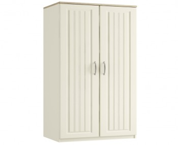Piccolo Ivory and Oak 2 Door Tall Wardrobe