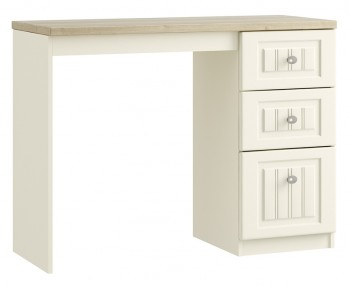 Piccolo Ivory and Oak Single Dressing Table