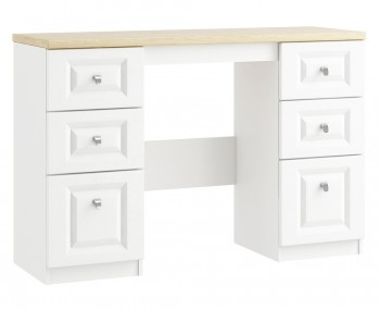 Pantano White and Oak Double Dressing Table